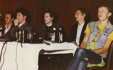 PiL press conference, San Francisco 181 Club, November 4 1982 © Maureen Baker, courtesy Bob Tulipan