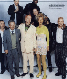 """One loyal firm"", Q Awards, October 29th, 2001. Q Magazine © unknown"