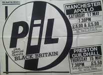 PiL - Manchester and Preston 1986 gig poster