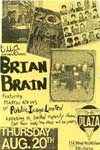 PiL - Brian Brain - Cincinnati, The Plaza, USA 20.8.87 Poster / Flyer
