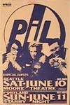 PiL - Seattle, Moore Theatre, USA 10.6.89 Gig Poster